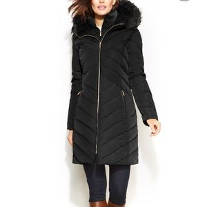 Michael KORS Navy Puffer Down Coat Jacket  Small